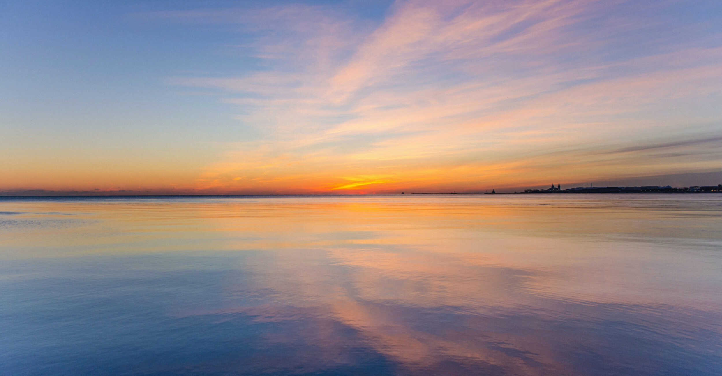 Tranquil sunset seascape
